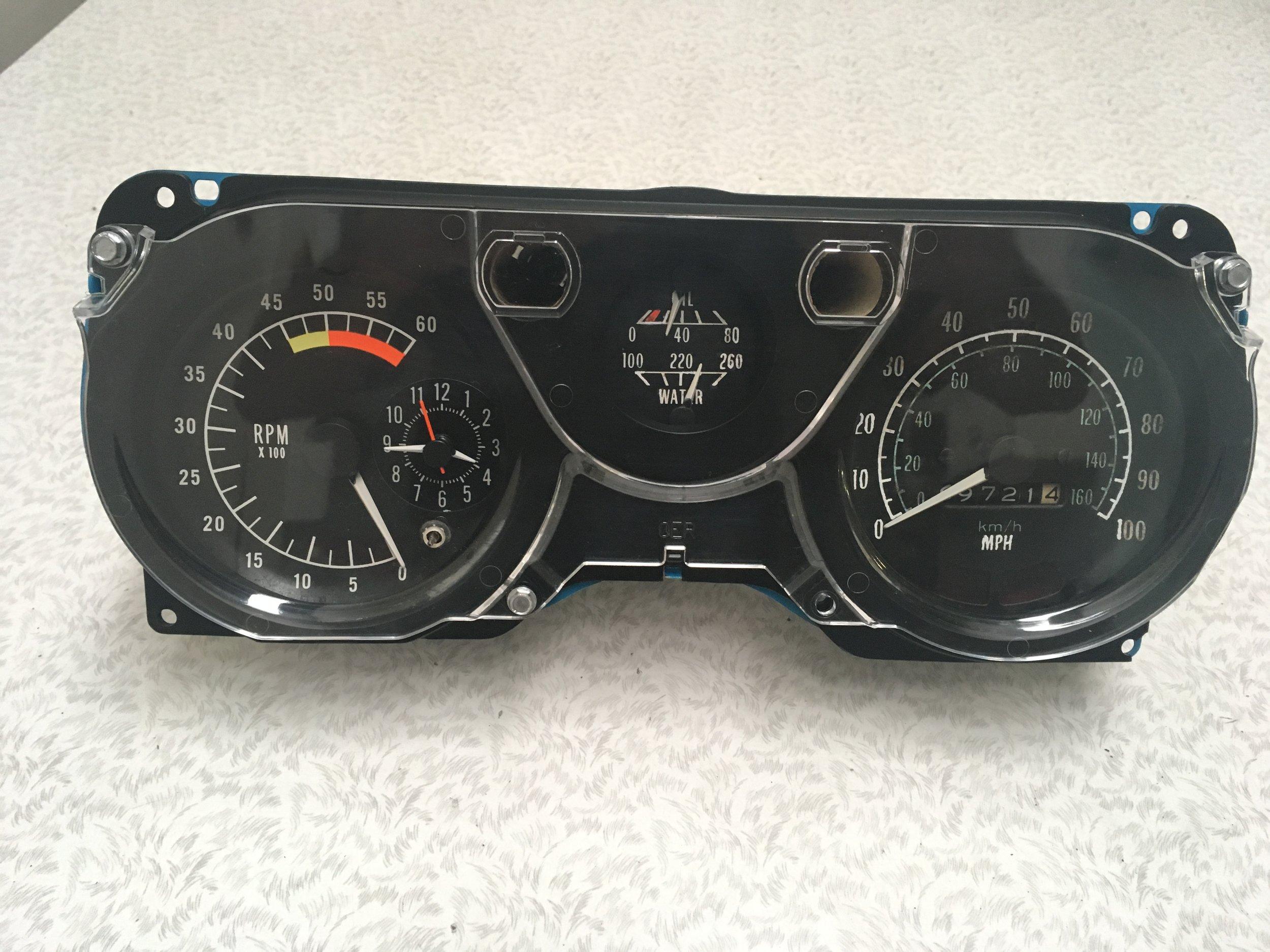 Speedometer & Tachometer Cluster - Front AFTER restoration