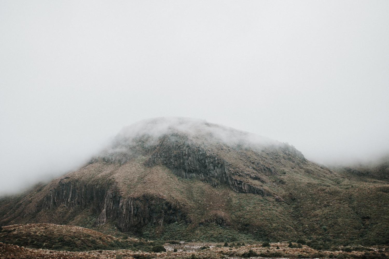 Mist rolling in on top of Mt Tonagriro