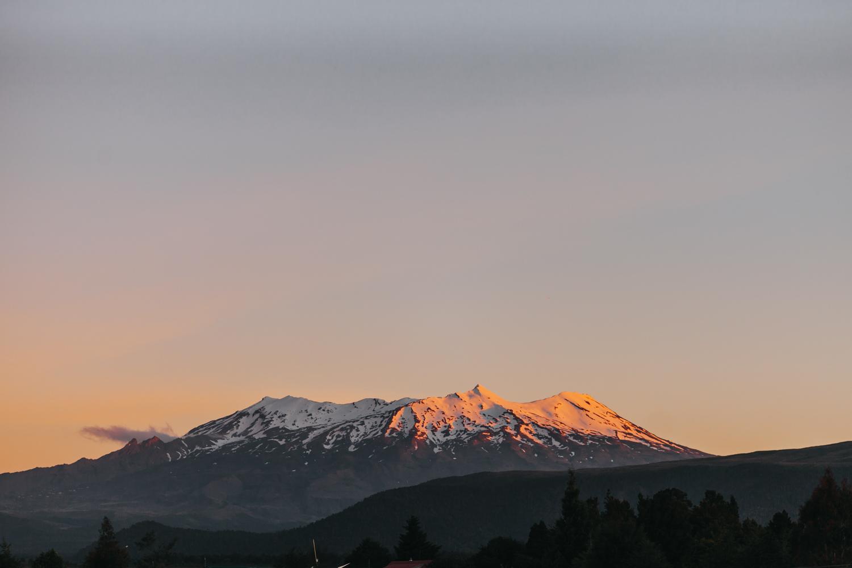 Sunset on top of Mt Ruapehu
