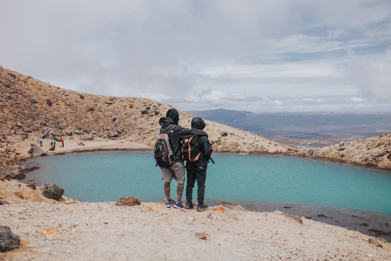 The beautiful blue lake