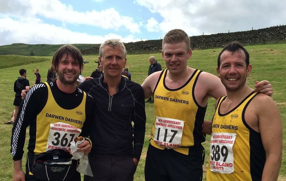 Dashers lads on the day (L to R) - Stu Smith, Mark Walsh, me & Simon Taylor