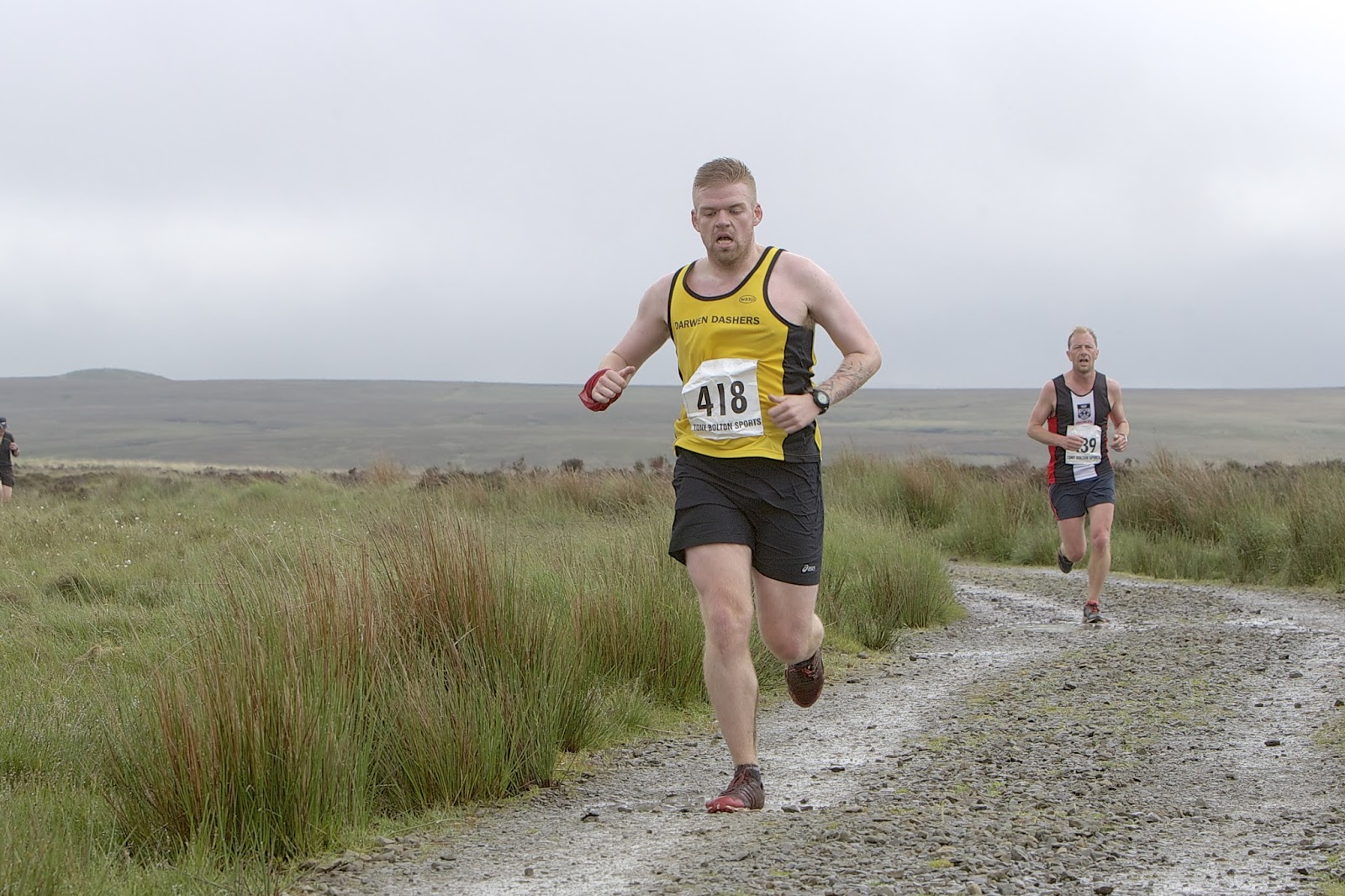 Great Hill fell race - weather was pants but I ran quite well - #39