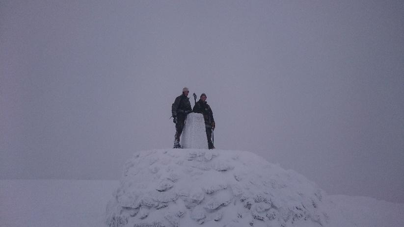 Ben Nevis summit, with my Dad