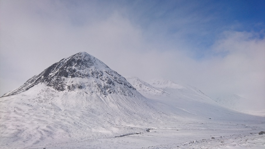 The Devils Point, Corrour Bothy the spec to the right.