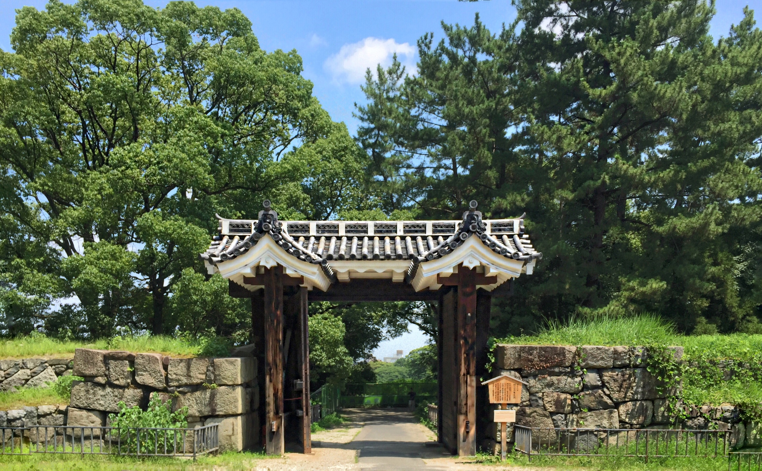 Gate in the park near the Castle