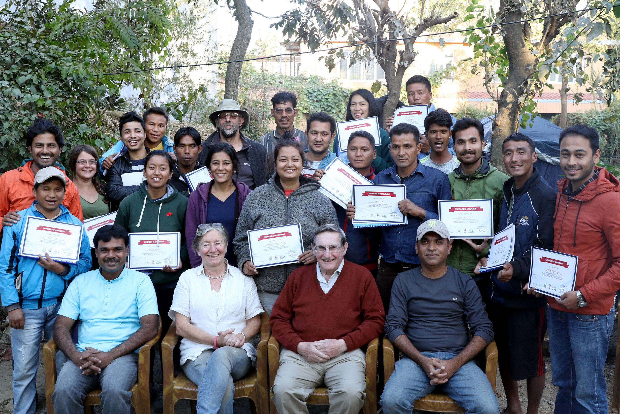 Participants strike a pose