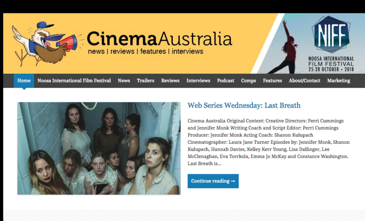 Cinema Australia - Web Series Wednesday