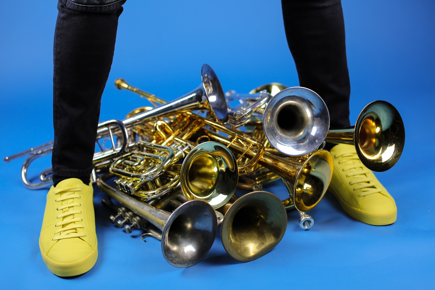 Several old trumpets of me..