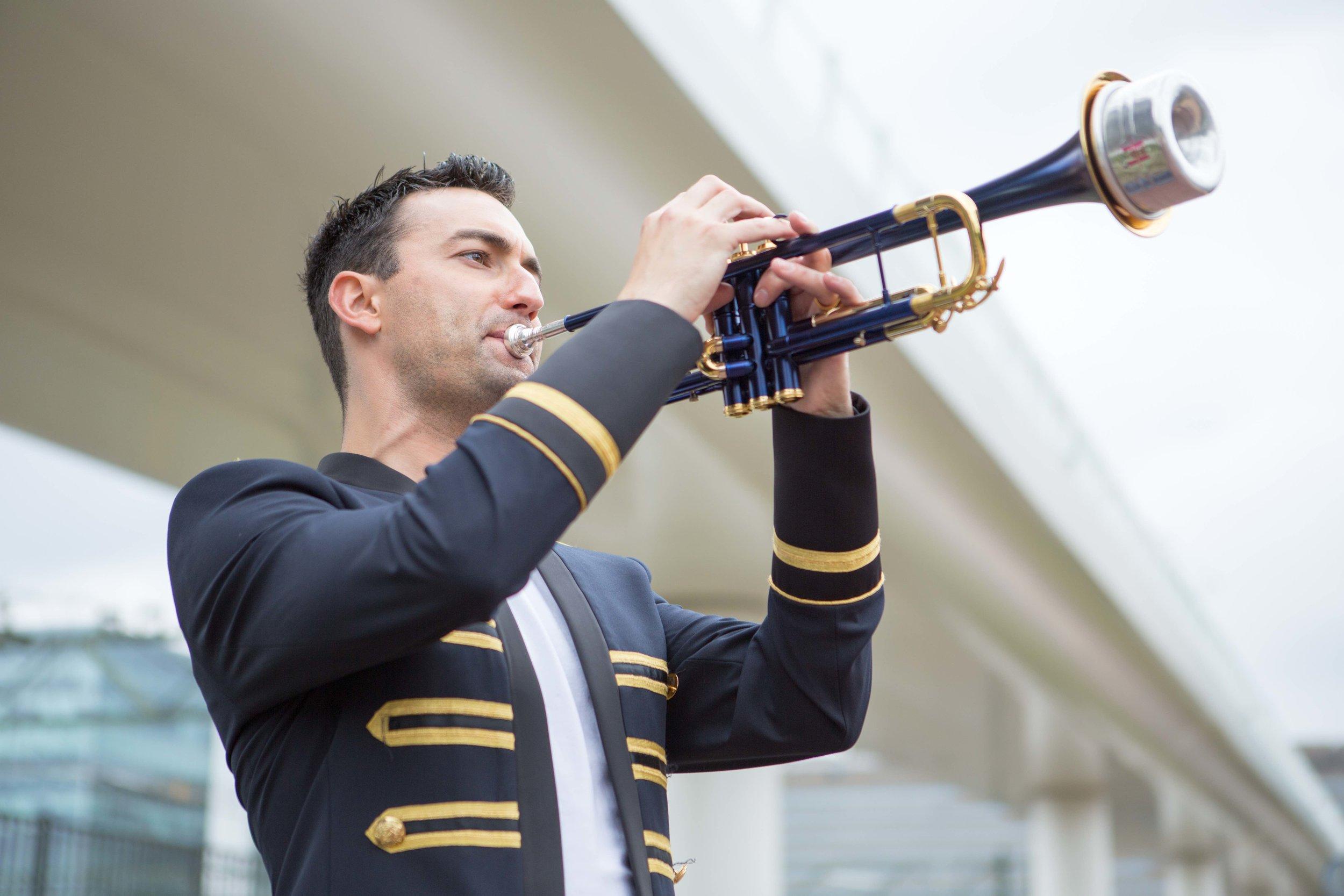 Rik Mol with 'Nieuwe Stradivarius' Adams trumpet