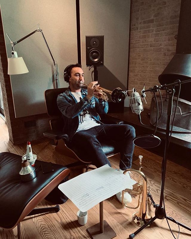 Very relaxed recording session.. 🎺 #moviescore #recording #trumpetsoloist #studiomusician #musician #trumpet #relaxed #moviemusic #ballads #chill