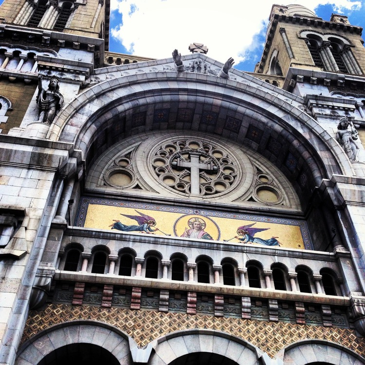 Cathedral of St. Vincent de Paul. Built in 1882, this is the largest surviving building from Tunis' colonial era, in the neo-Romanesque style..jpg