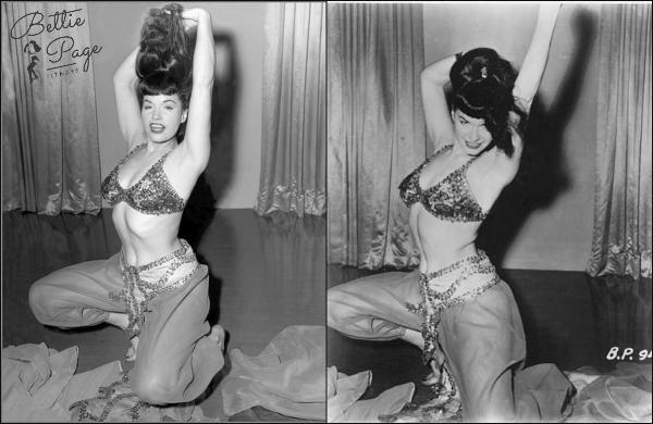 Bettie belly dancing... or something like it. ;)