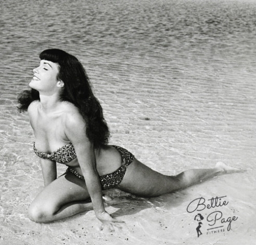 ~Bettie in Pigeon Pose, clearly loving her body!~