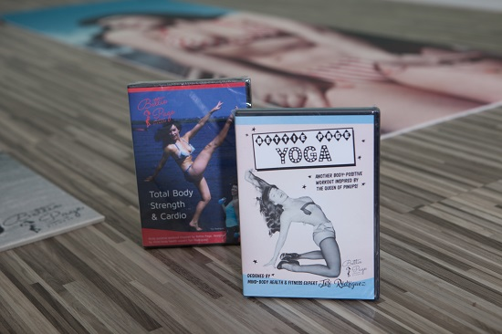 Bettie Page Fitness DVDs; photo by Pearl Davies