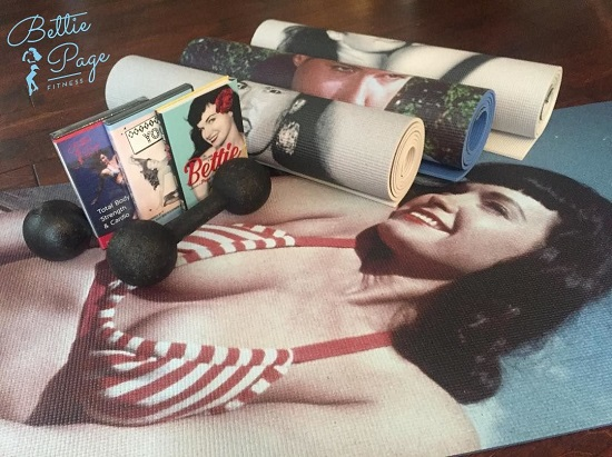 The big Bettie Bundle includes a Bettie yoga mat, both fitness videos & The Look Book of Bettie