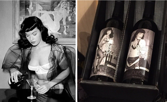 Bettie Page Wines gift set