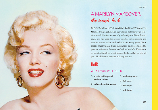 Interior shot from The Little Book of Marilyn: Inspiration from the Goddess of Glam