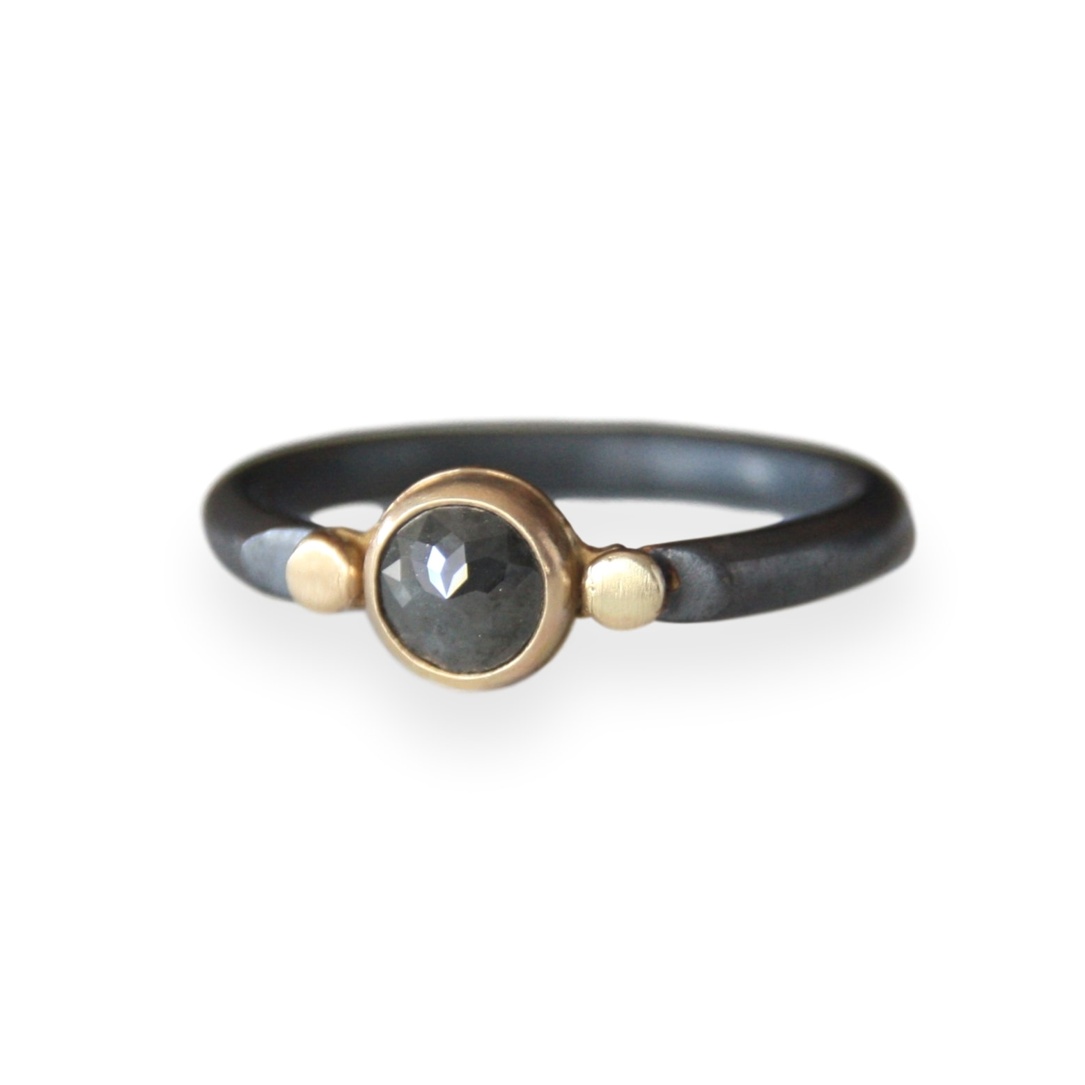 Charcoal Diamond Ring