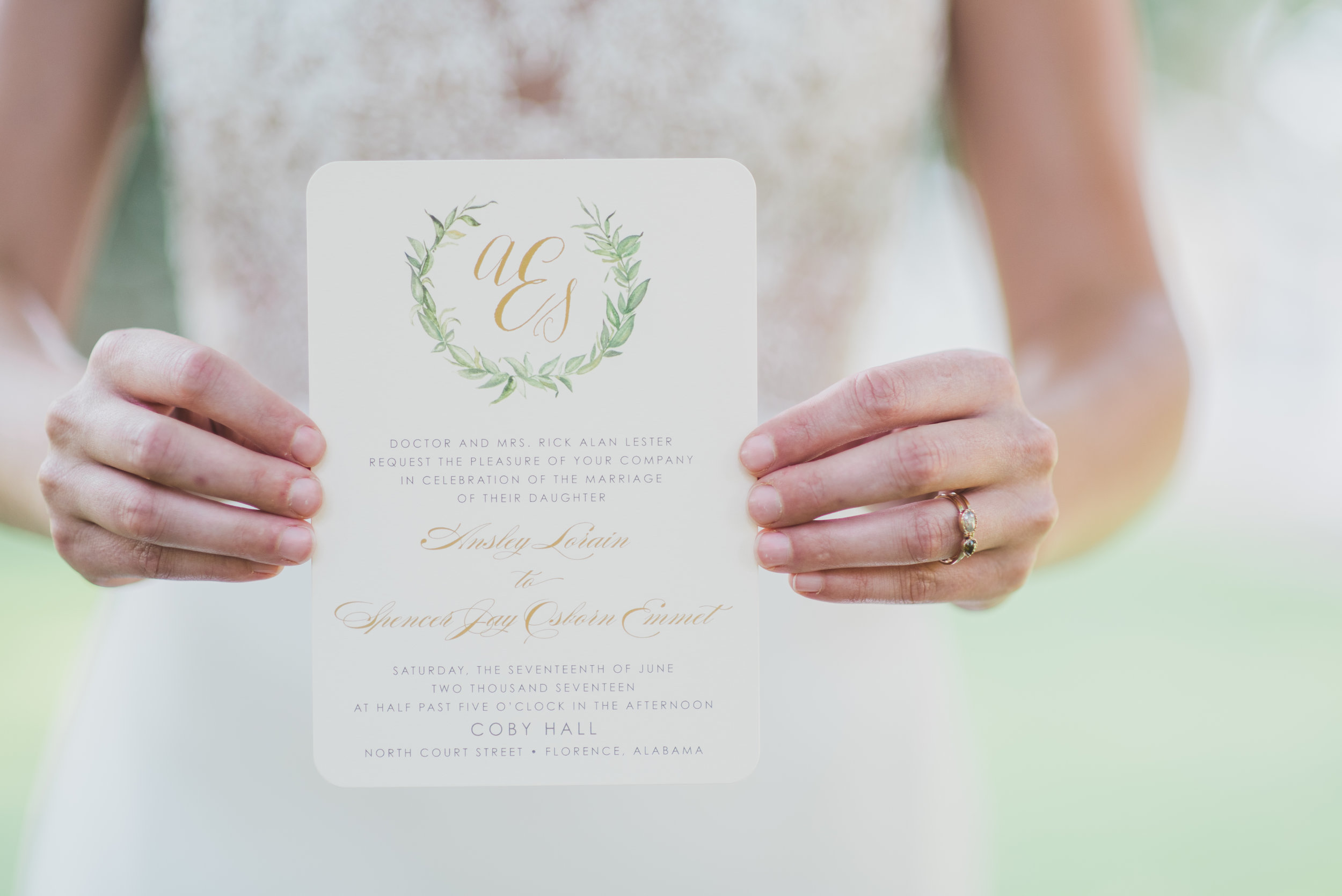 Elegant Garden Photo Shoot : Invitation