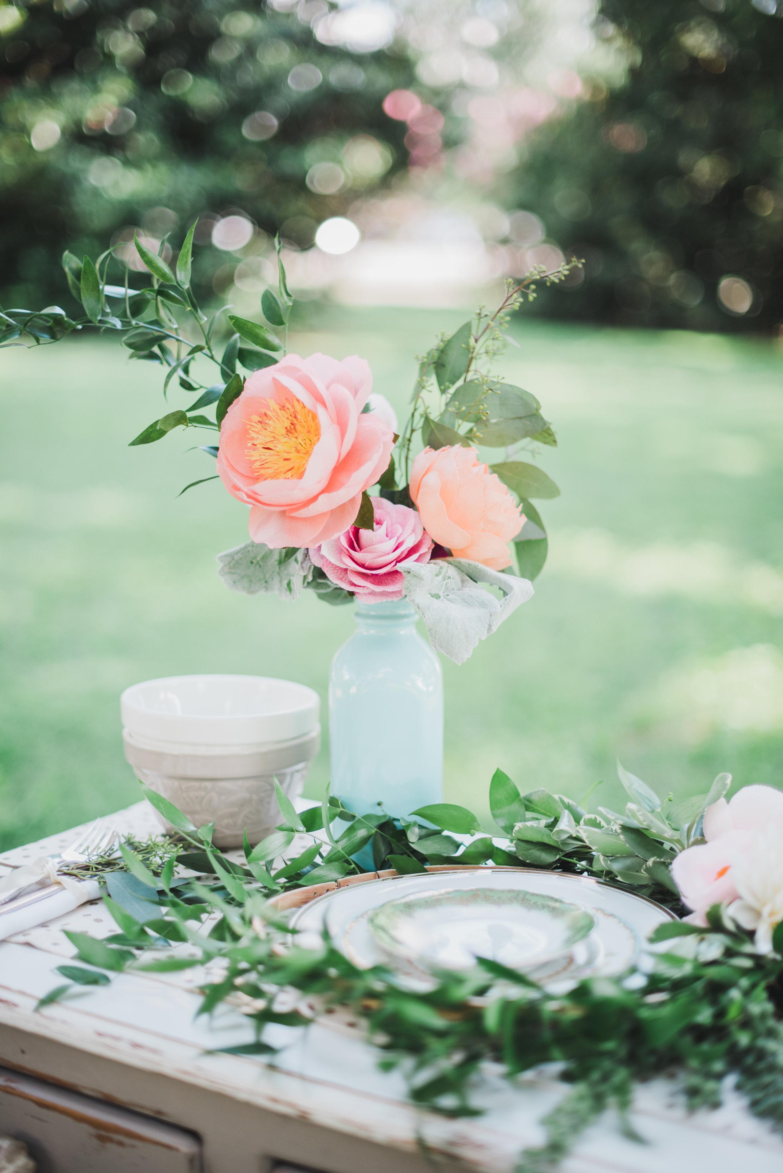 Elegant Garden Photo Shoot: Tablescape