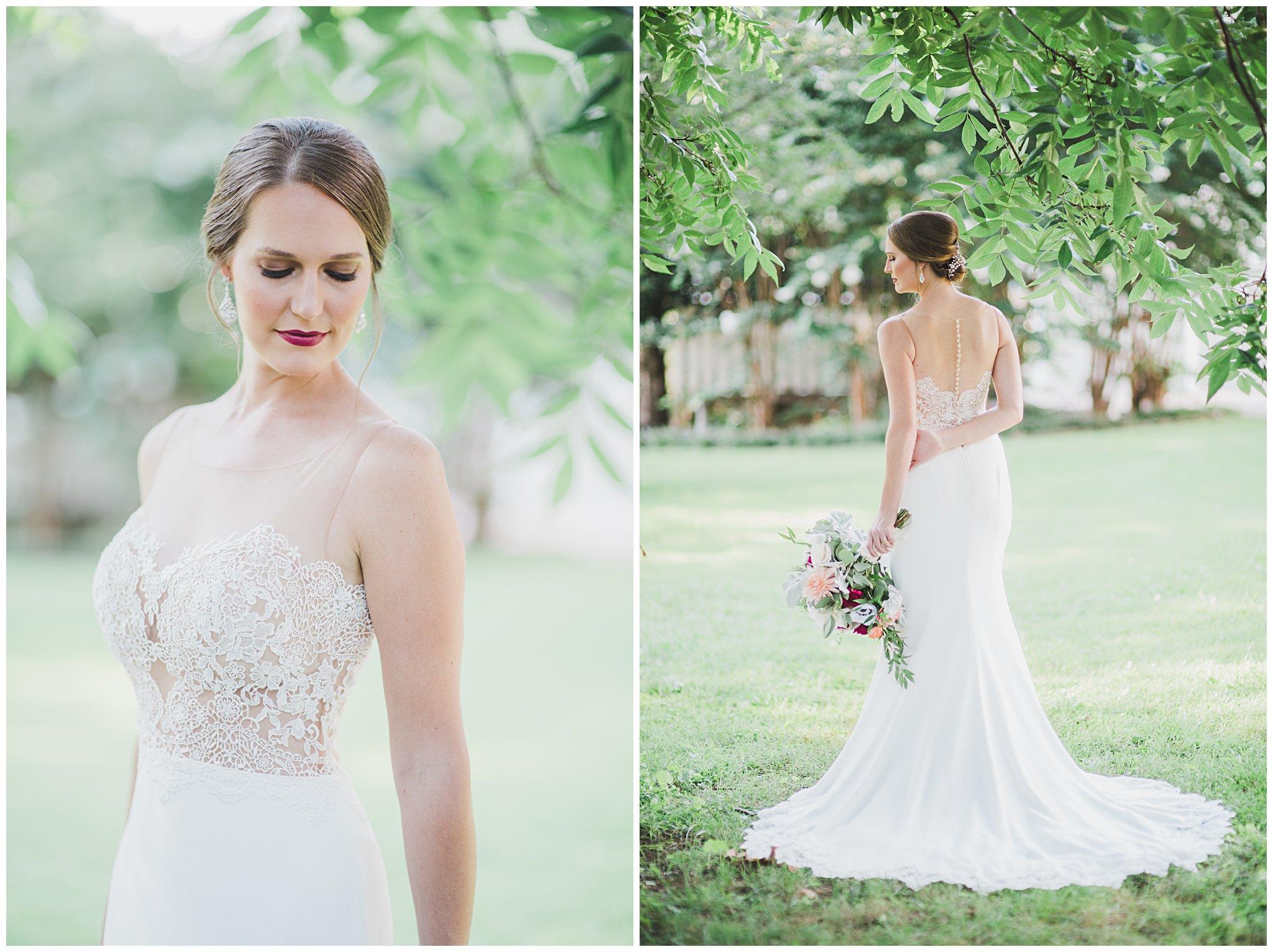 Elegant Garden Wedding Photo Shoot : Wedding Dress