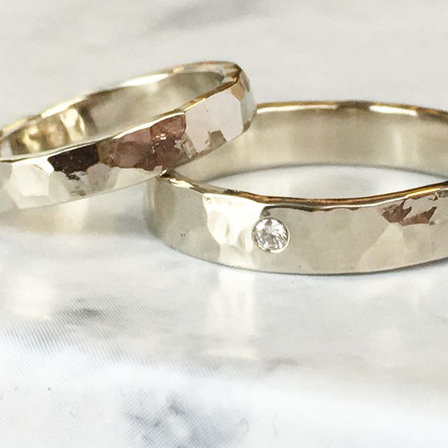His & Hers wedding rings shipping out to their new home!  ________________________ Full collection of @torchfirestudio jewelry at www.torchfire-studio.com ________________________