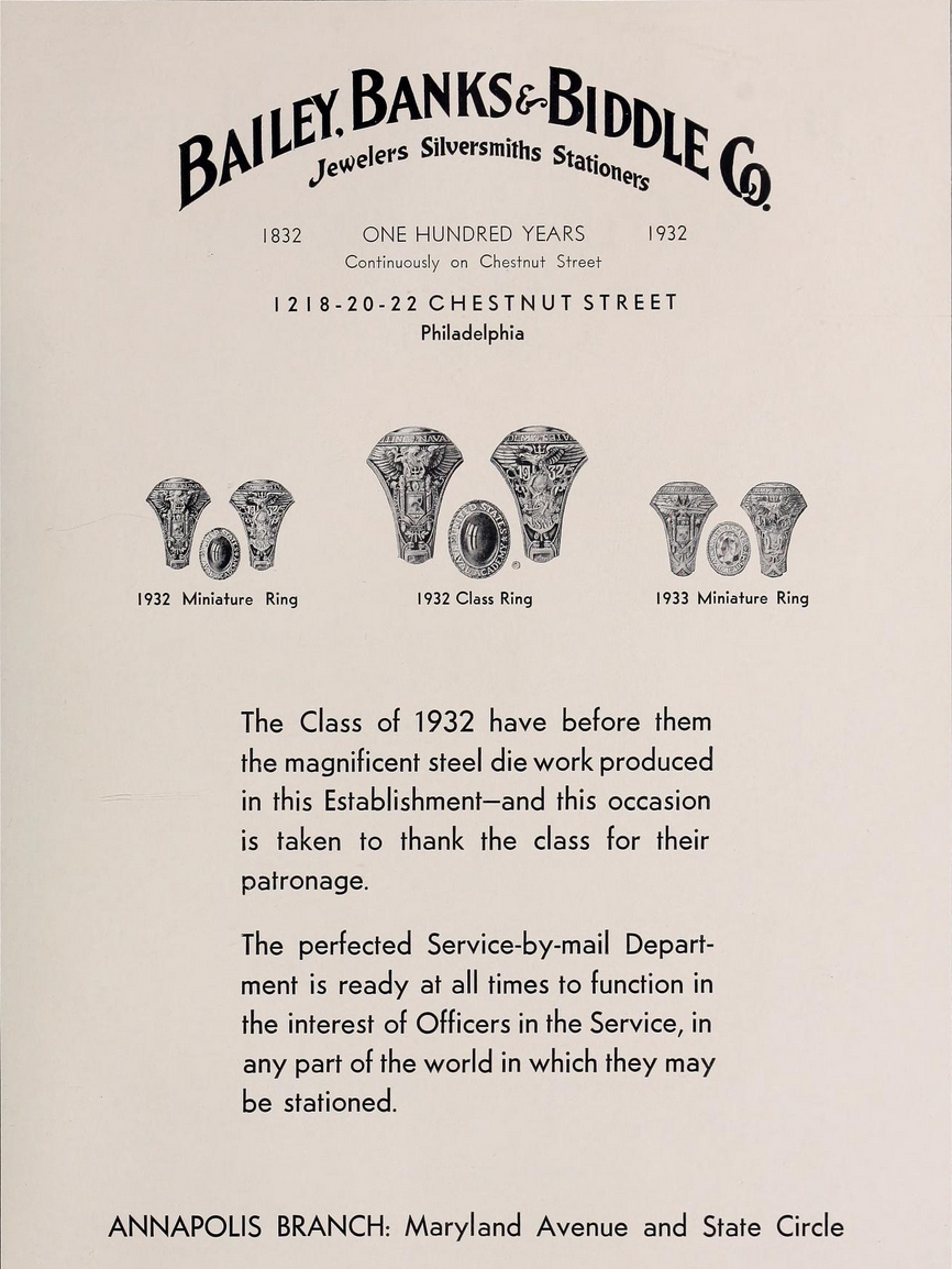 1932 class ring from Bailey Banks Biddle.png