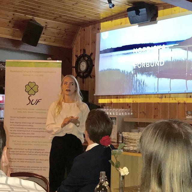 SUF's (Iceland) annual congress was held this weekend. Hildur, our 2nd Vice President, had a short talk to them during Saturday evening, about NCF and importance of Nordic cooperation. 💚 @ungframsokn