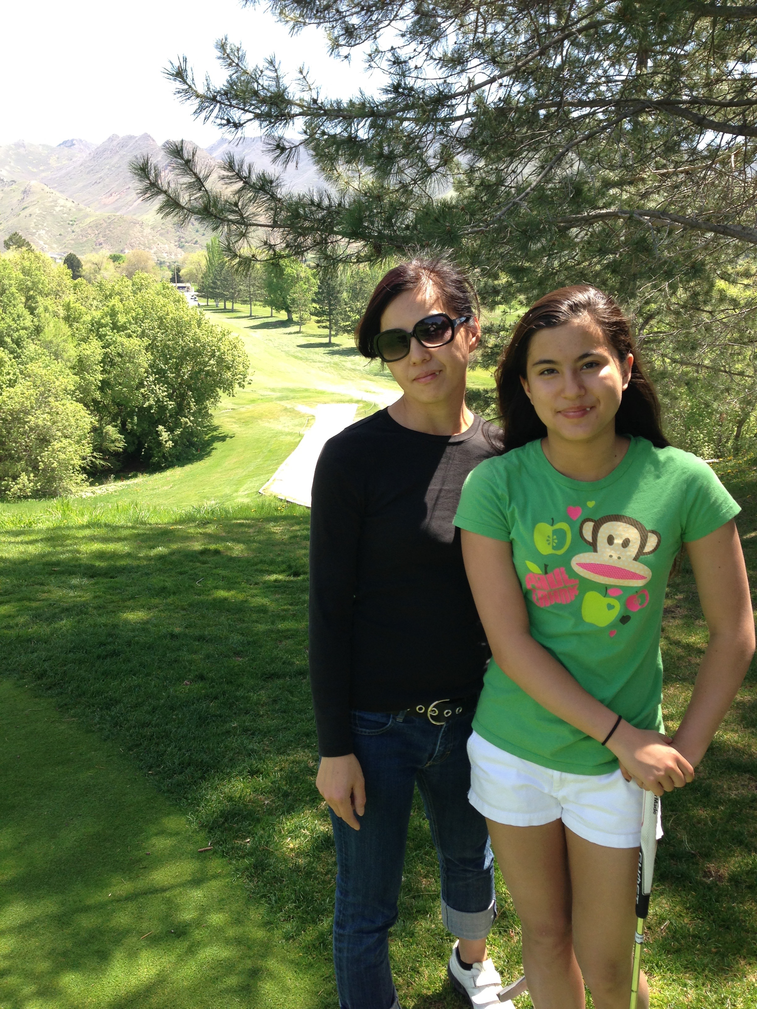 Me & mom at our home course, Bonnevile in Salt Lake City.