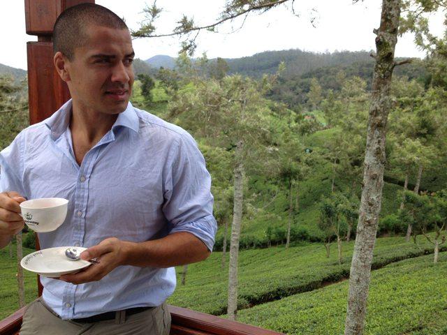 Striking a pose at Lovers Leap Tea Plantation