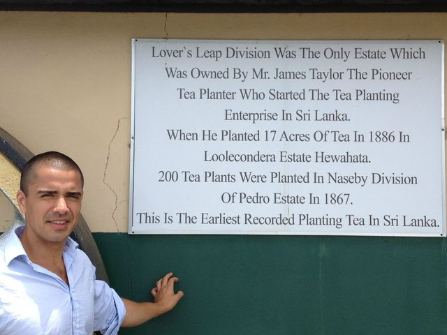 Plaque at Lovers Leap Tea Plantation