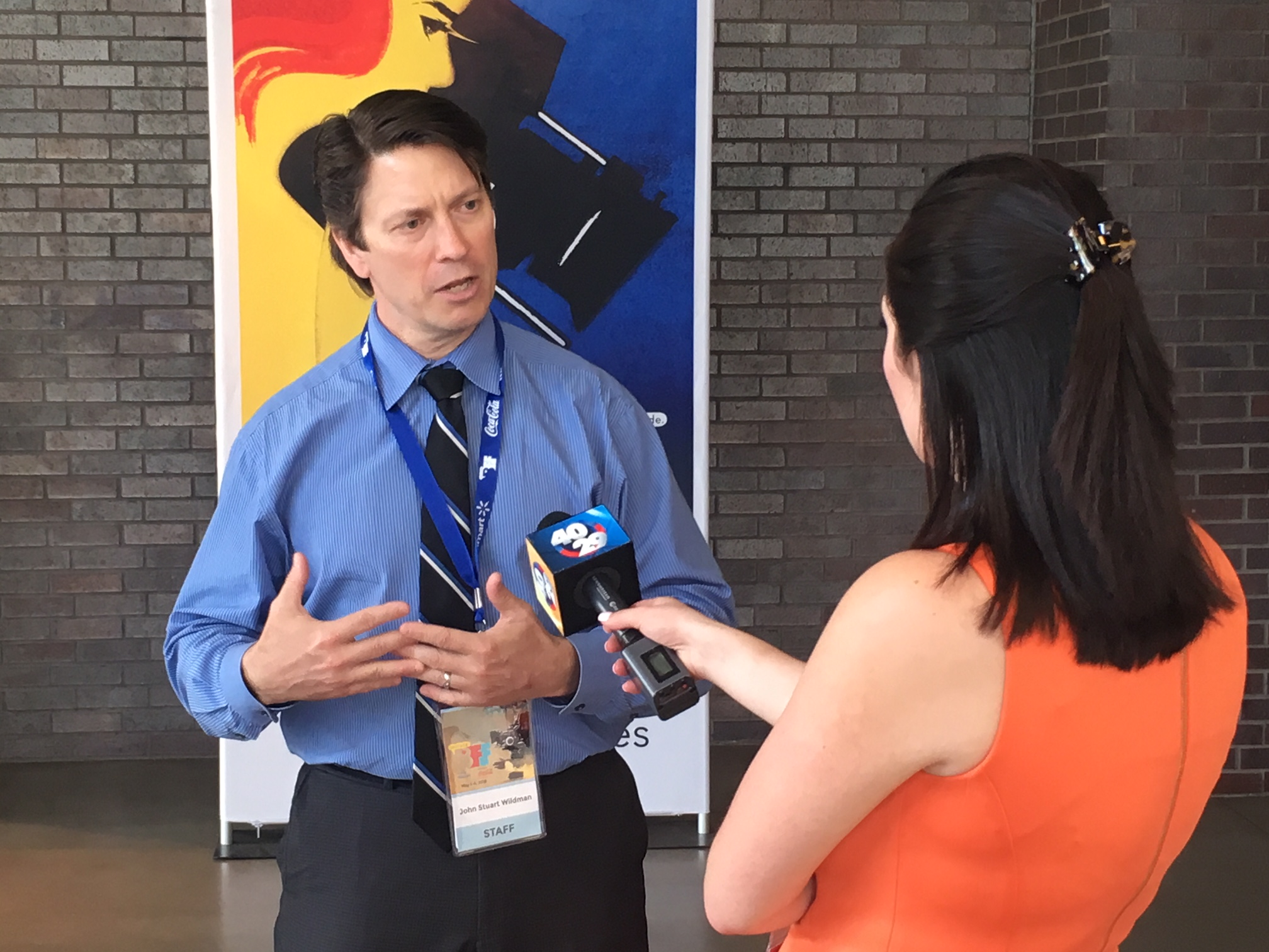 BFF 2018 - Being interviewed by KHBS_KHOG (ABC) #2 5.6.18 (Photo by Tracey Aivez).JPG