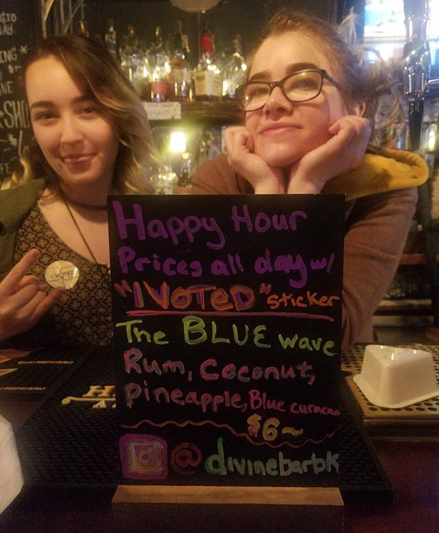 TODAY ONLY!! We have a special cocktail for those who #vote. Show us your sticker!!!!
