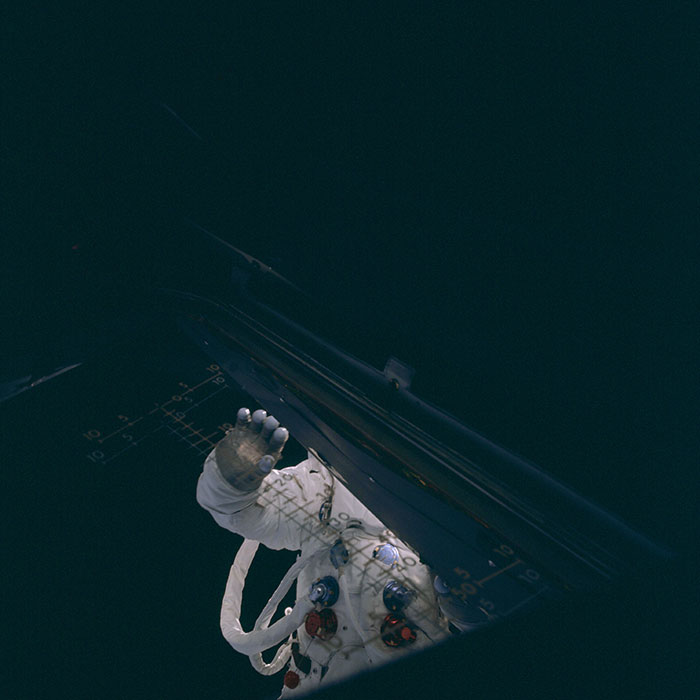 Apollo 9 - image credit: NASA / www.apolloarchive.com, scanned by Ed Hengeveld