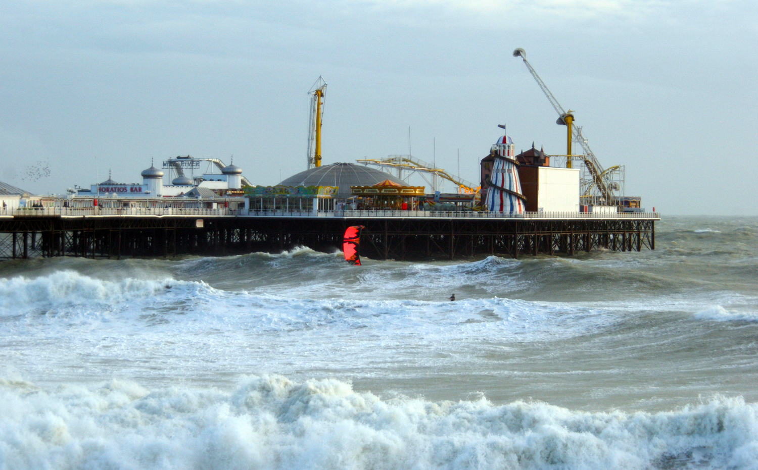 Preparing for the Palace Pier Jump