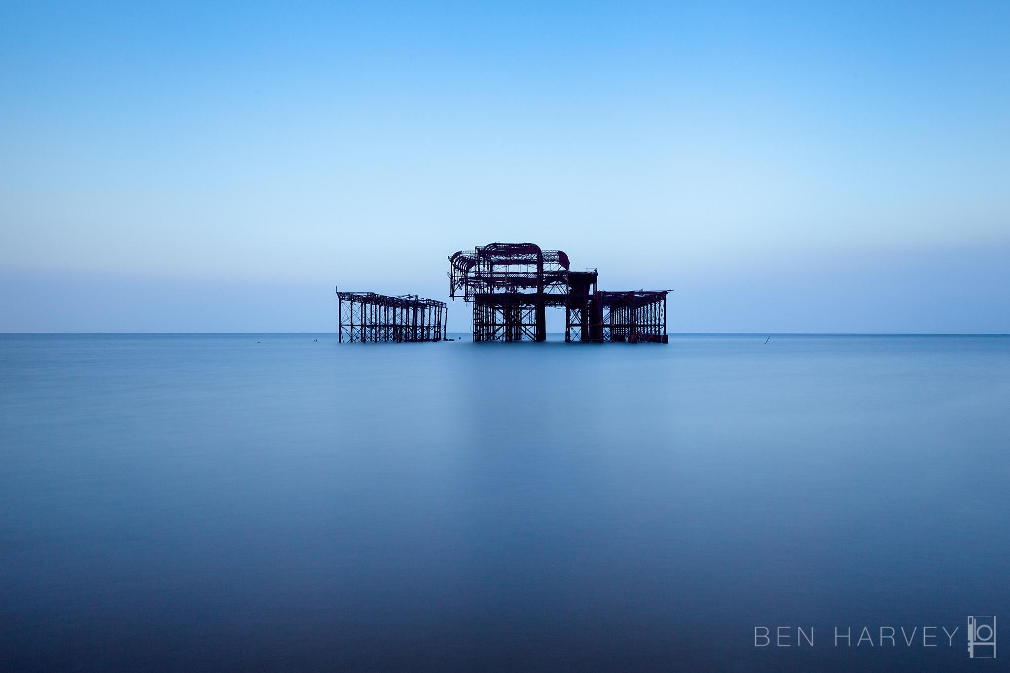 Long exposure of Brighton's West Pier