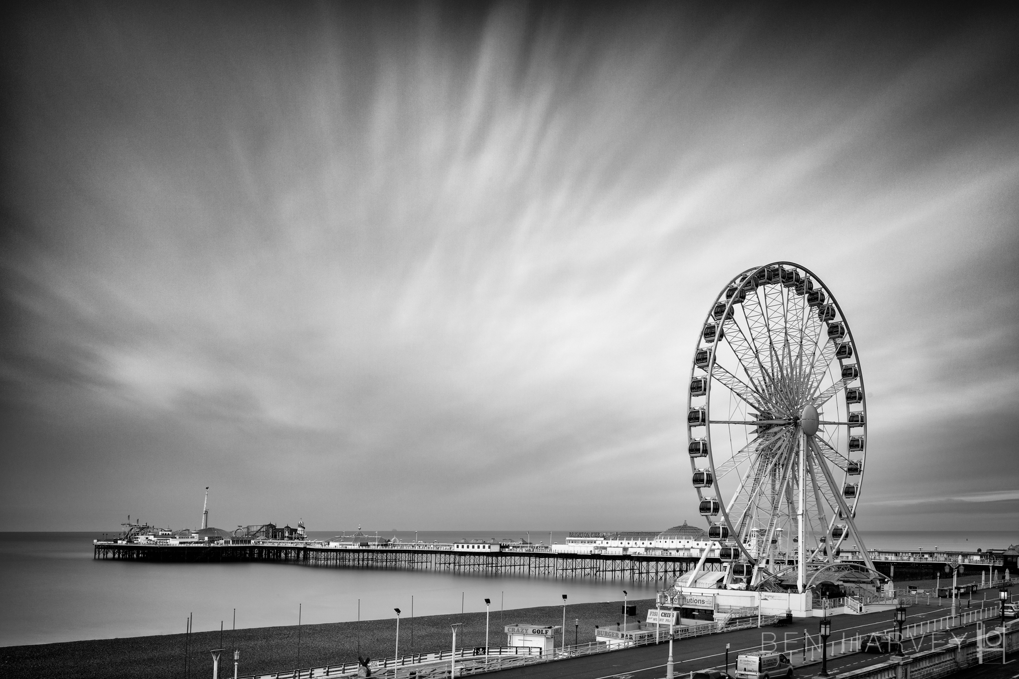 Palace Pier and Wheel @ Sunrise