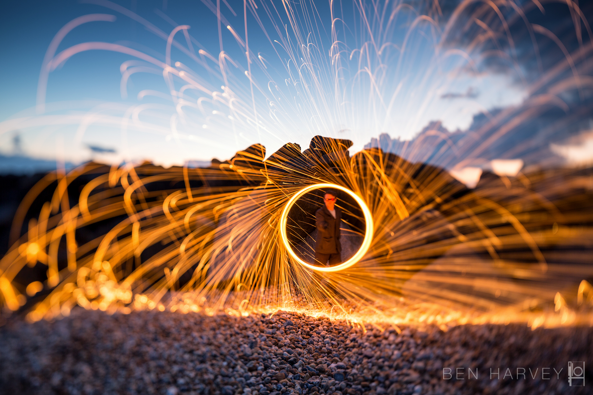 Wire wool bokeh