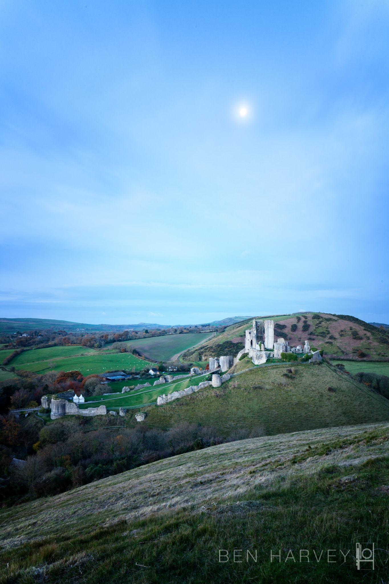 Corfe Castle - Moonlight