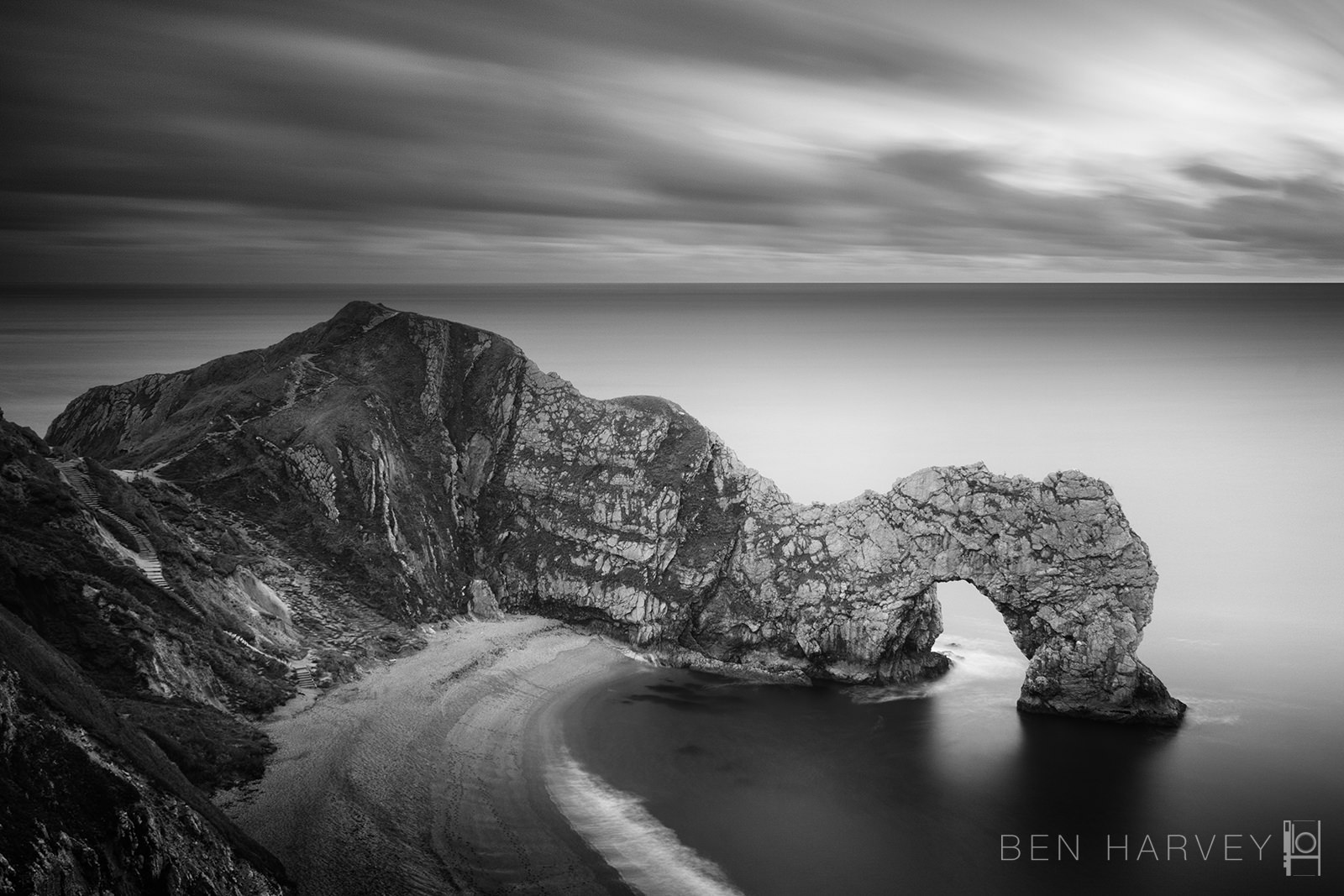 Filters allow me to create photos that are minutes long - here a 4 minute exposure of Durdle door