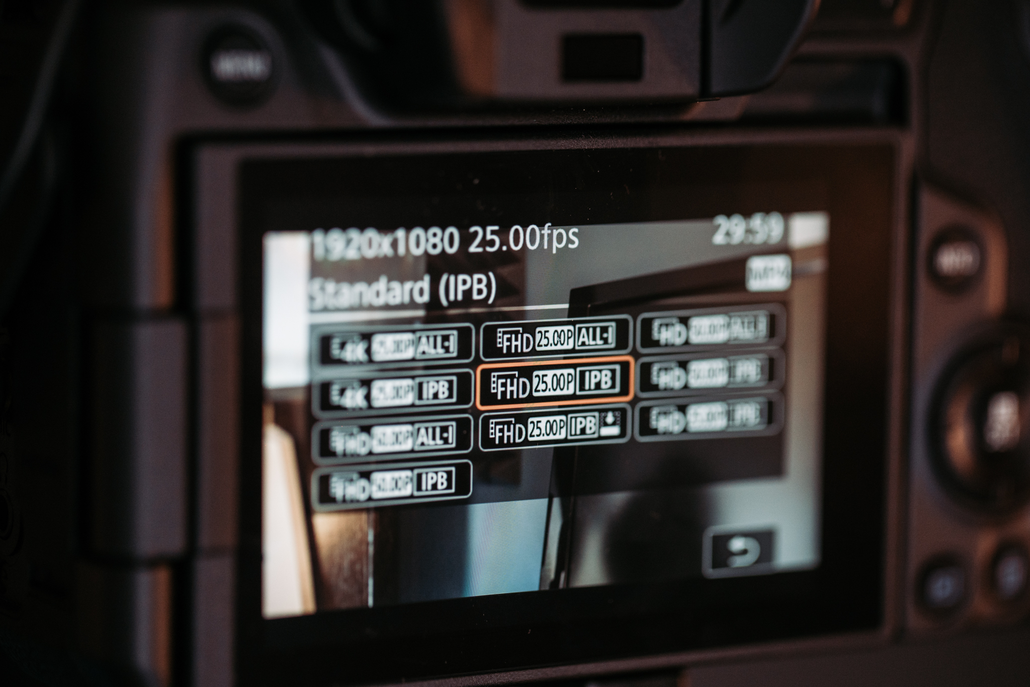 The video options on the Canon Eos R