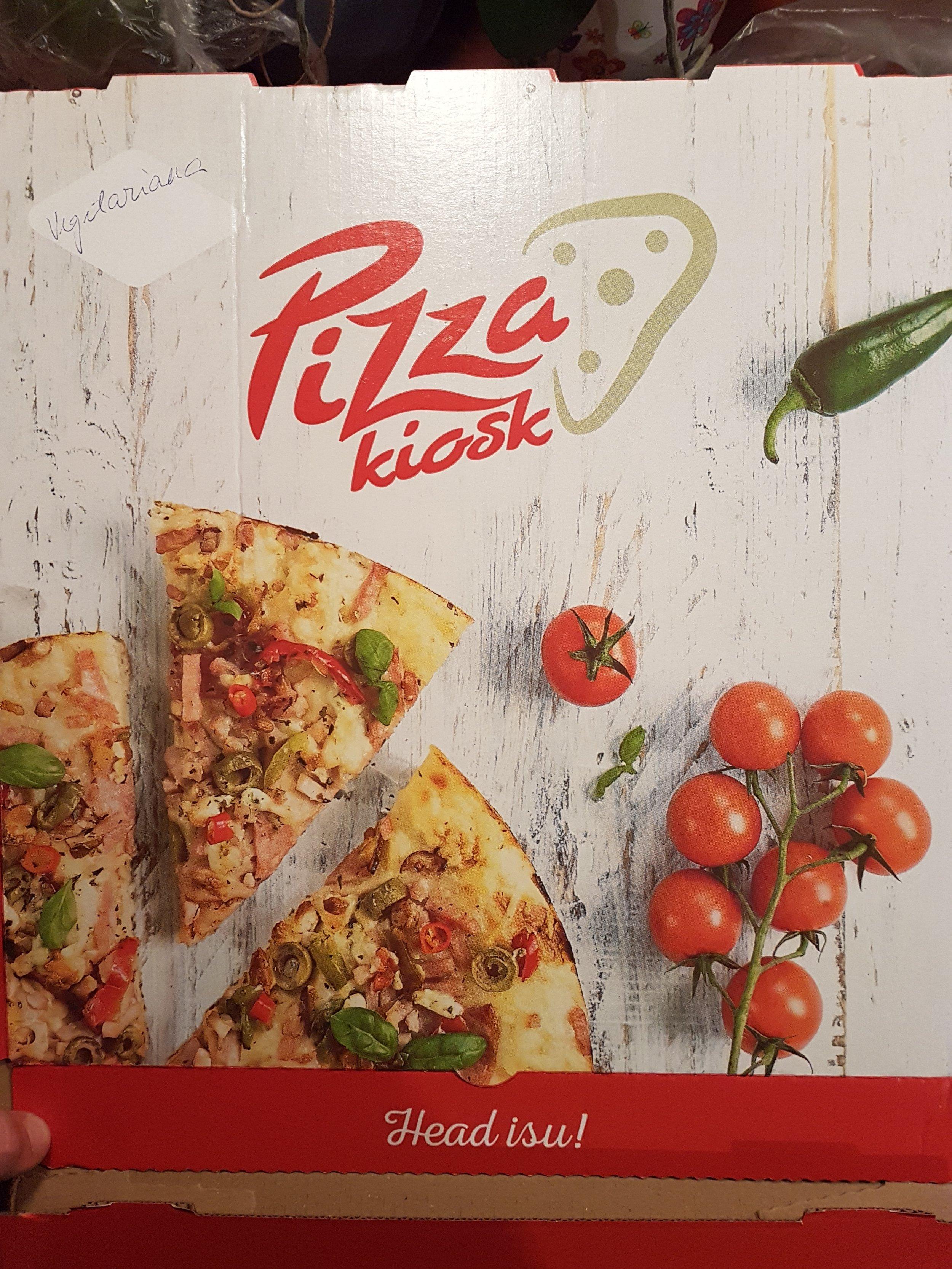 Pizzakioski uus pakendi disain.