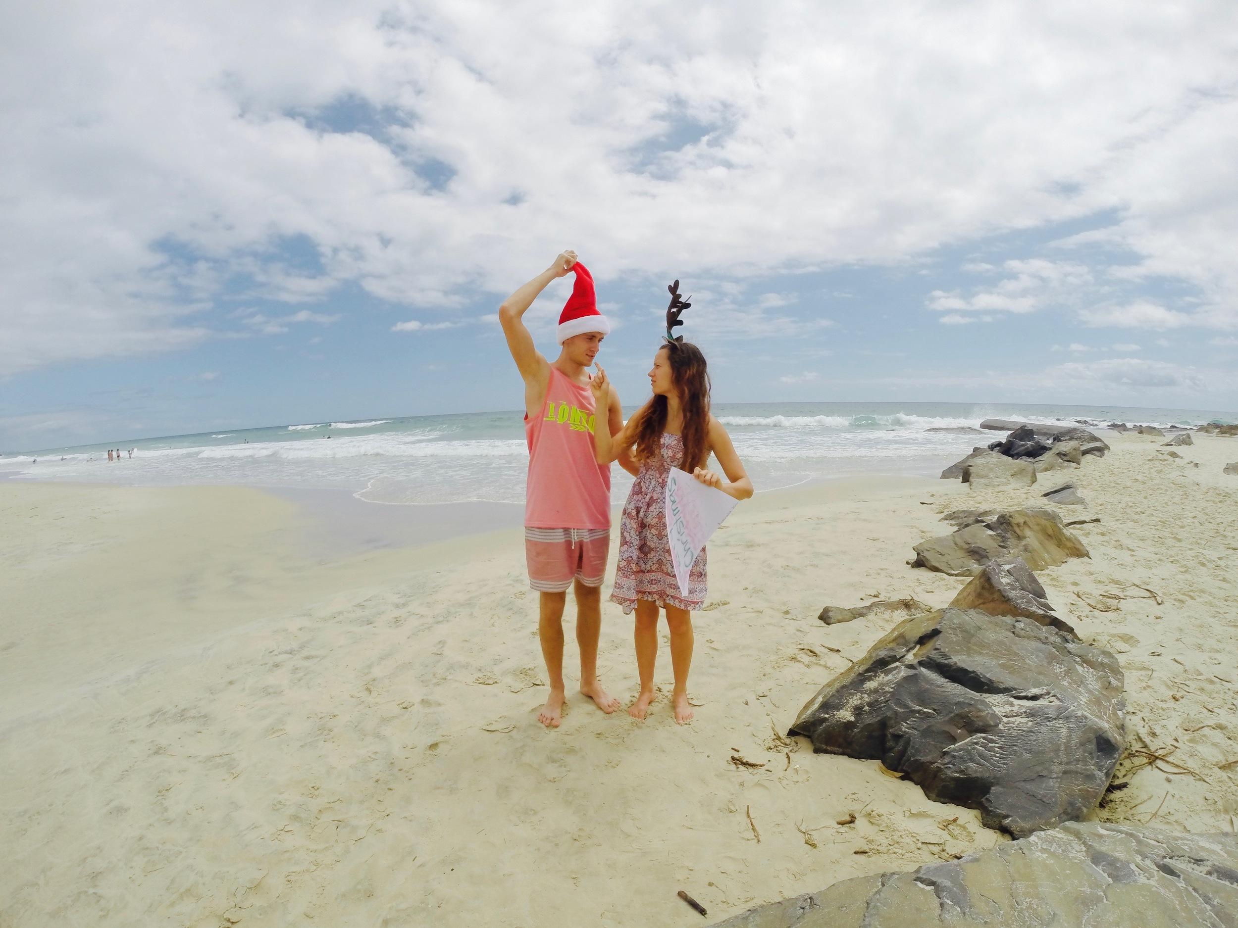 Jõulud veetsime ka Austraalias liivarannal.