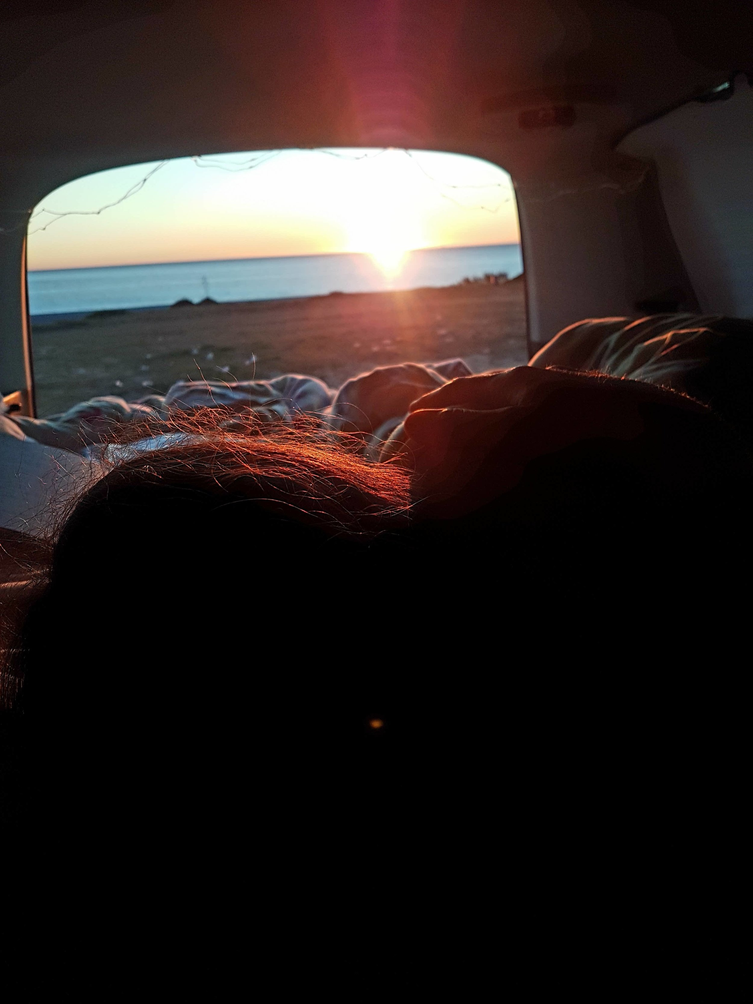 Hommikused päikesetõusud autost