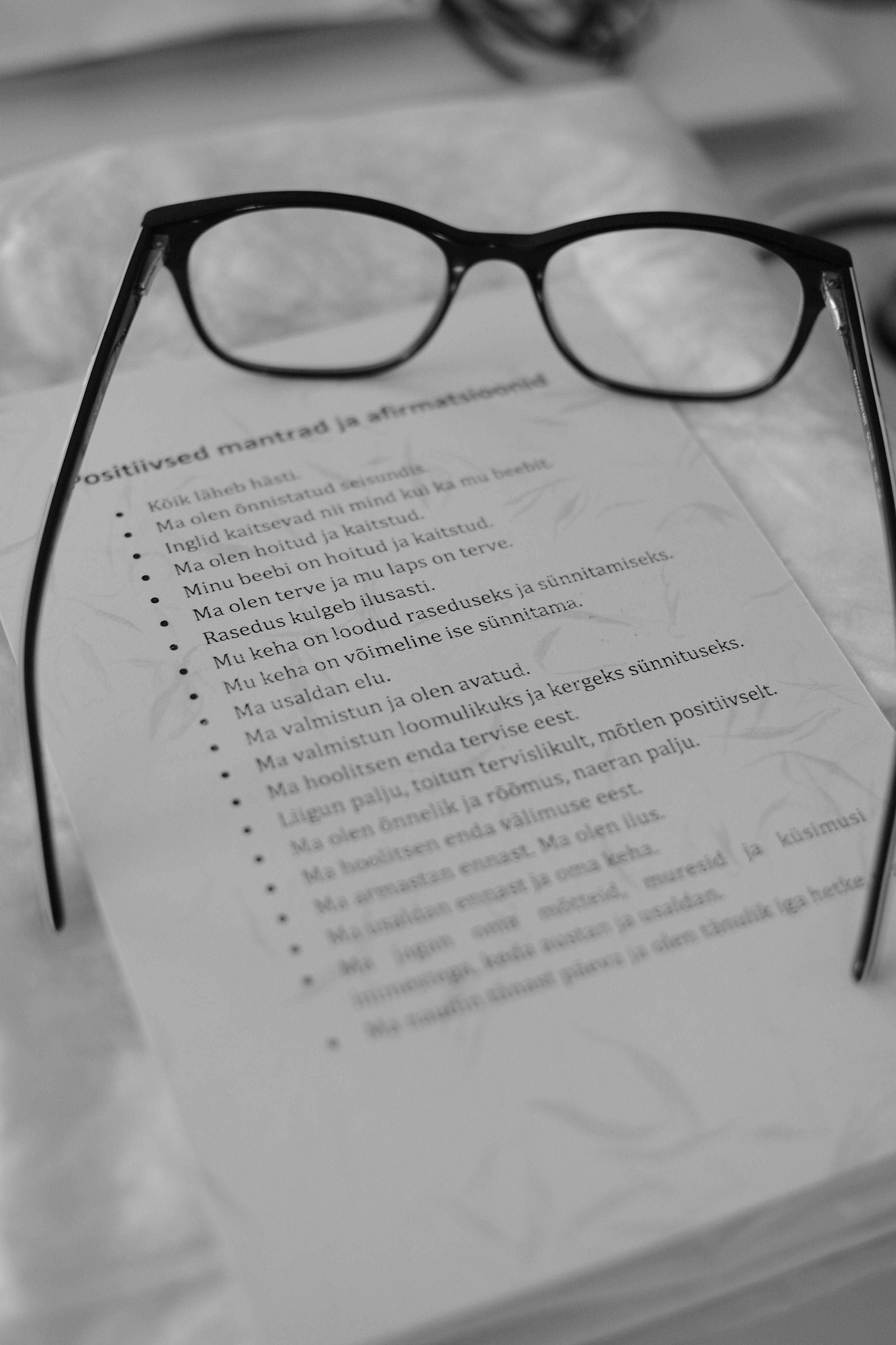 Positiivsed mantrad ja afirmatsioonid raseduse ajaks. Fotograaf: Ann Vool