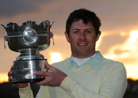 Robbie Cannon with the 2013 Irish Amateur Open trophy. Picture: Pat Cashman