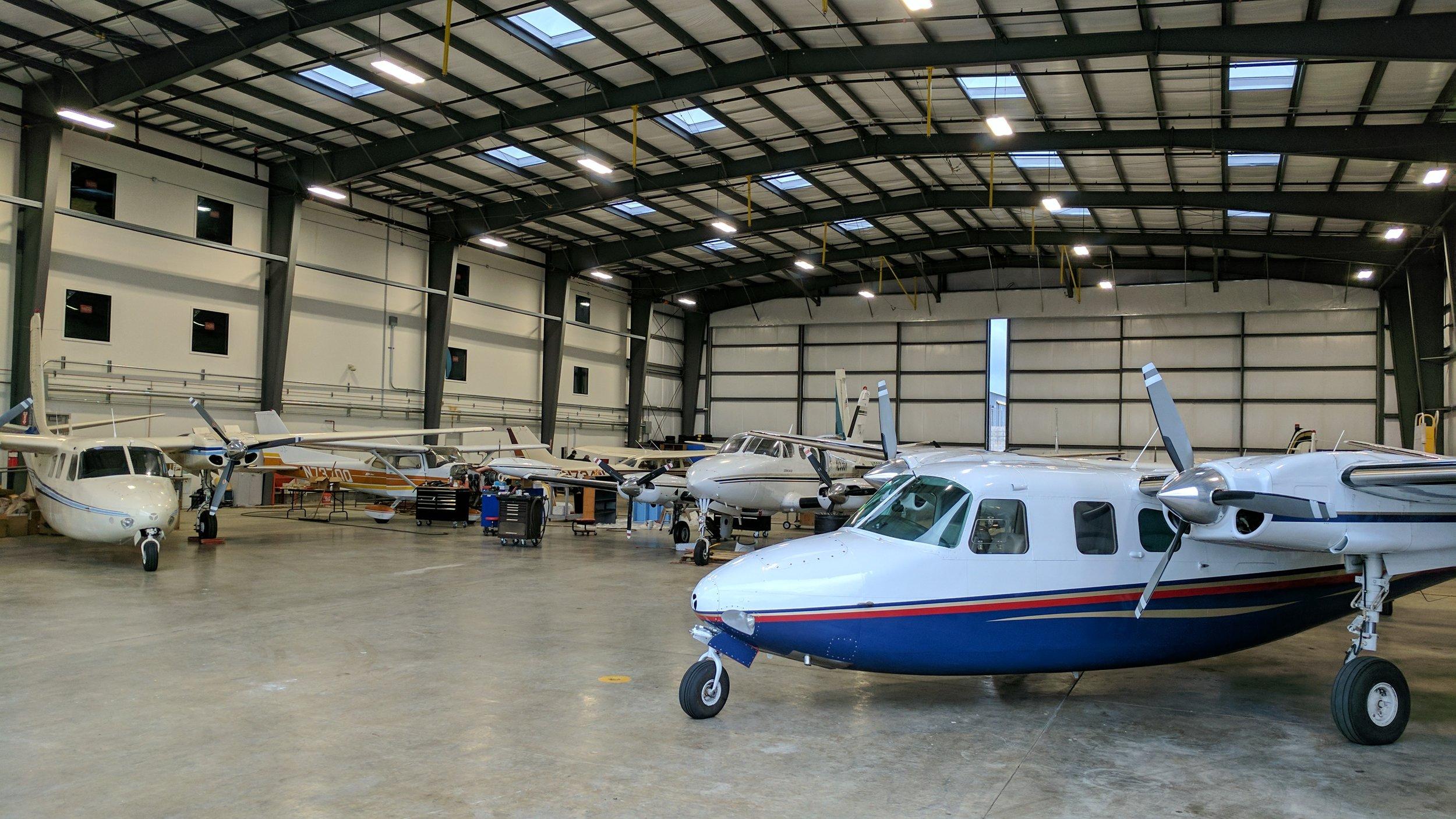 Our new maintenance hangar on 835 airport drive, san luis Obispo