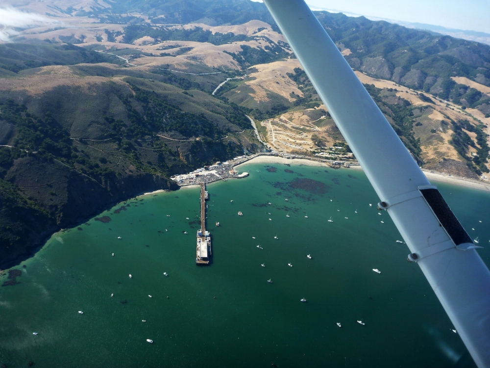 Avila Beach as seen on a Scenic flight