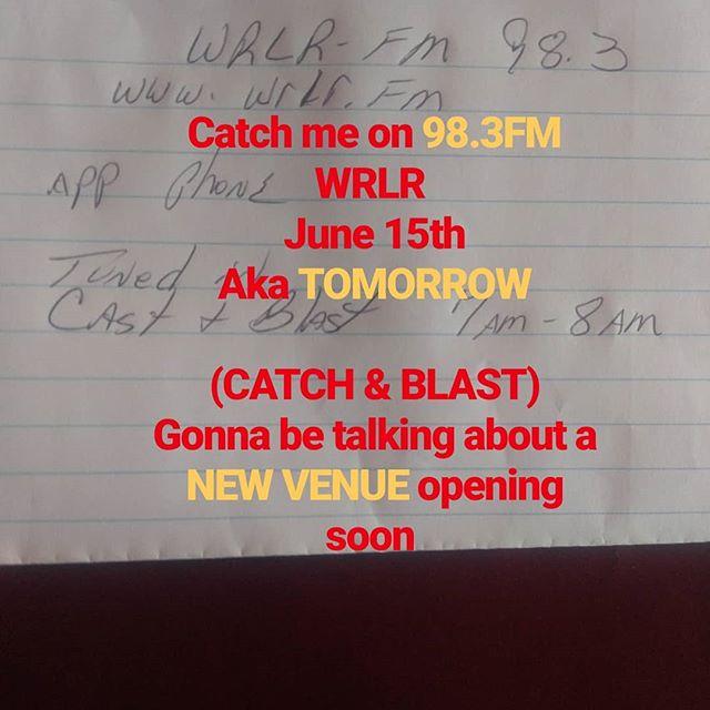 CHECK IT OUT. JUNE 16th!!!#radio #venue