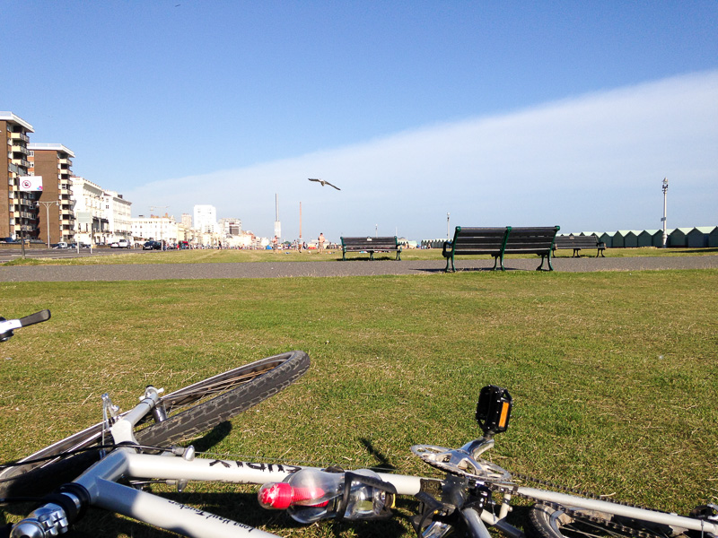 By the sea in Hove, a lazy sunny day during my holiday